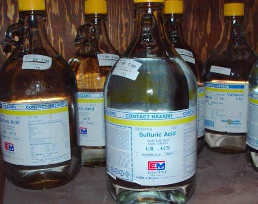 an examination of the sulfuric acid industry in ontario The transportation of dangerous goods act cp and over 40 short-line railroads in ontario alone sulphuric acid at 100% is not corrosive but sulphuric acid.