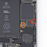 Remove those screws which secure the battery