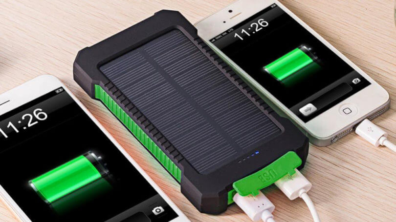 Solar power bank for iPhone