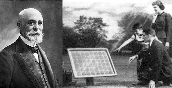 Historyof cration solar batteries