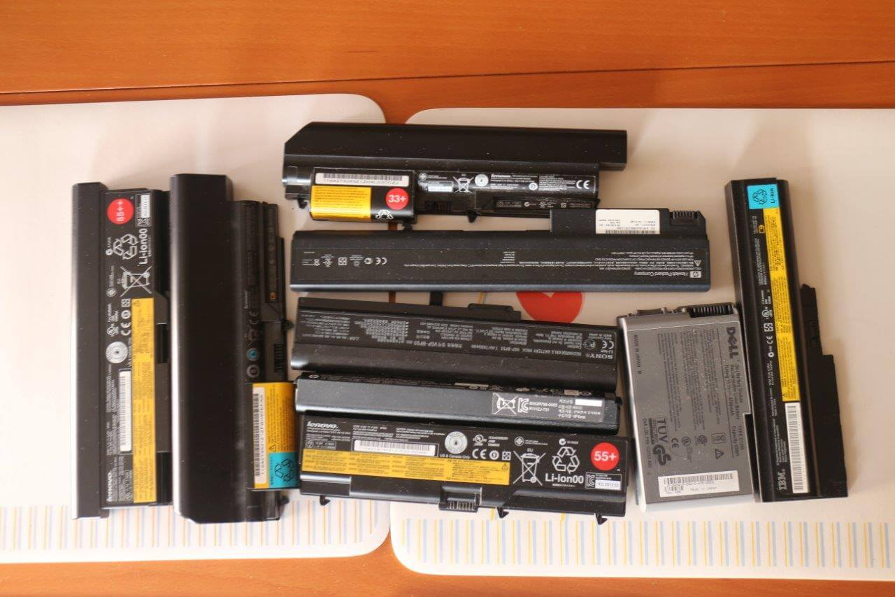 handle used laptop battery