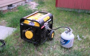 Propane generator with gallon